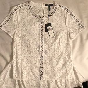 BCBG White Summer Blouse